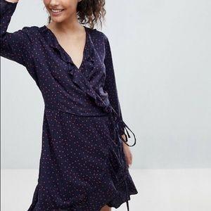 *nwt* asos 'only' • polka dot wrap dress